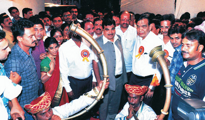 Grand Welcome of Shri. Nitin Gadkari